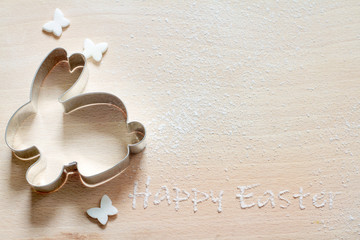 Foto auf Leinwand Schmetterlinge im Grunge Easter baking in the kitchen abstract background with empty space