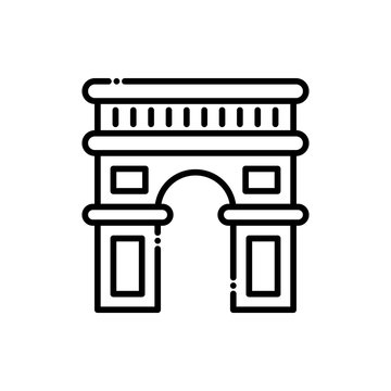 Archway  Vector Icon Line style Illustrations.