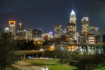 Fotomurales - night time in charlotte north carolina