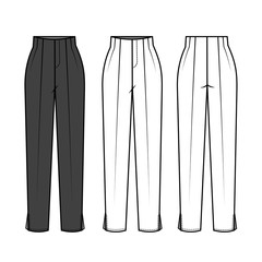 Pants for Ladies fashion Flat Templates