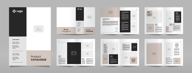 modern company product catalogue design template