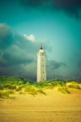 Wall Mural - Blåvand Fyr Leuchtturm in Dänemark