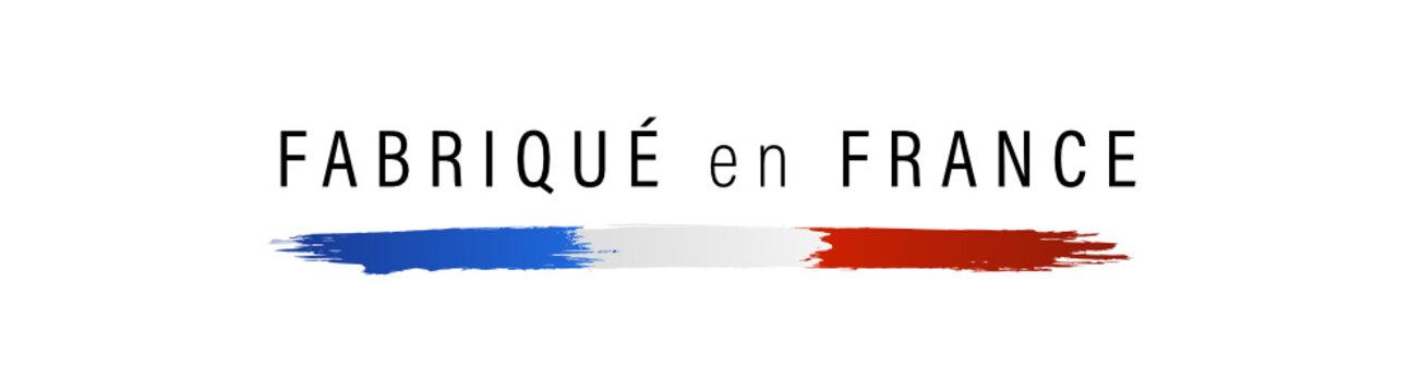 Drapeau français, made in France, fabriqué en France.