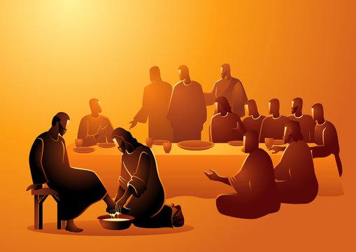 Jesus washing apostles feet