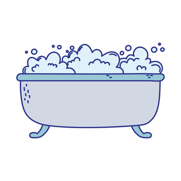 bathtube bubbles foam soap clean icon cartoon