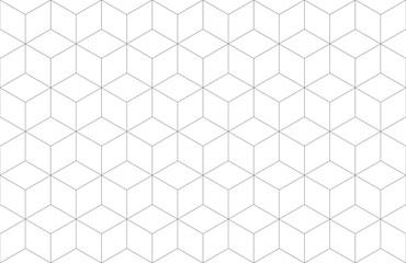 Fototapeten Künstlich Seamless Geometric Hexagonal Line Pattern Background