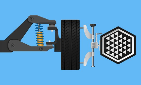 Front Wheel Car Suspension With Alignment Equipment