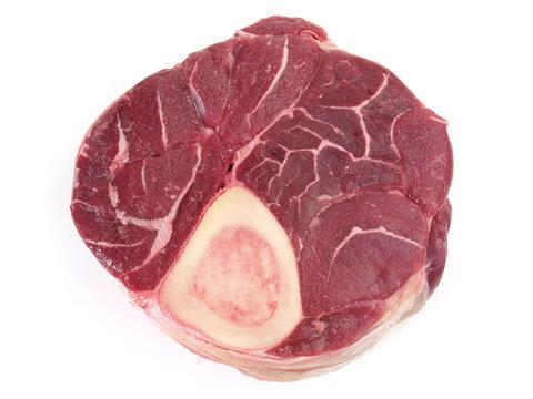 Beef Leg Slice isolated on white Background