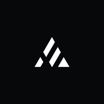 Minimal elegant monogram art logo. Outstanding professional trendy awesome artistic AE EA initial based Alphabet icon logo. Premium Business logo White color on black background