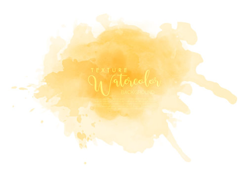 Abstract isolated yellow watercolor splash