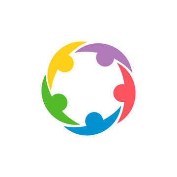Logo of unity. Collaboration and teamwork icon. Friendship and union of people. Command