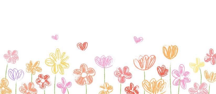 Draw vector banner beauty flower for spring season.