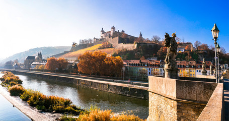 Germany travel and landmarks - Wurzburg medieval town in Bavaria