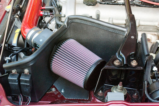 Car Open Air Intake Filter with Heat DIY Shield