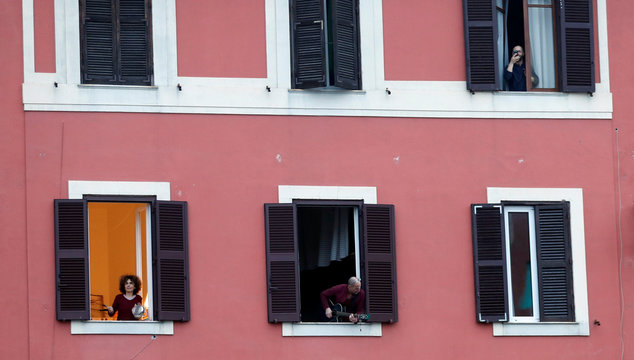 Day four of Italy's nationwide coronavirus lockdown, in Rome