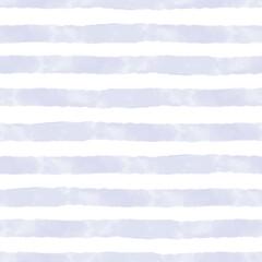 Rayures de vecteur aquarelle bleu sur blanc modèle sans couture. Répéter l& 39 arrière-plan dessiné à la main.