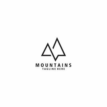 Mountain Logo Design Template. Icon mountain vector