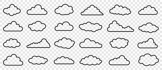 Simple outline clouds vector