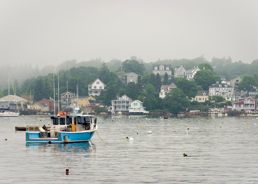 Fishing boat in boothbay harbor maine