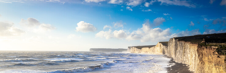 Panorama of Seven sisters in England