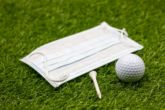 Face mask for golfer to play golf