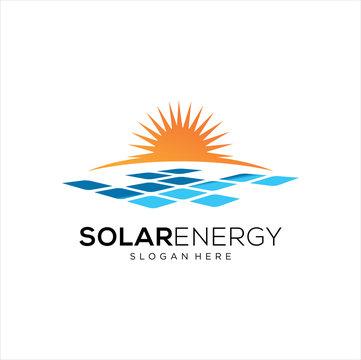 Sun solar energy logo design template. solar tech logo designs, Idea logo design inspiration