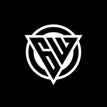 GW logo with negative space triangle shape and circle rounded