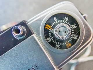Vintage Camera Film Frame Counter and Shutter Button