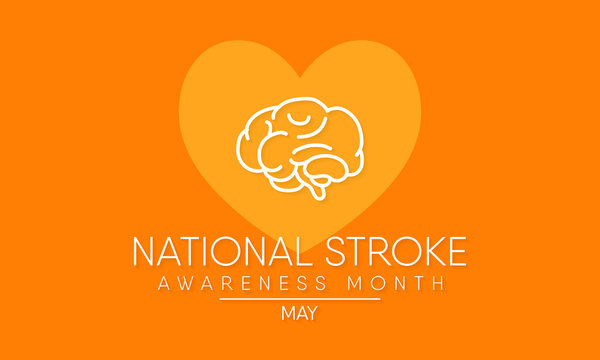 Vector illustration on the theme of National Stroke Awareness Month is observed in the United States annually during the month of May.