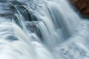 Landscape of agate Falls captured with motion blur, Michigan's Upper Peninsula, USA