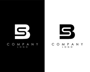 Initial Letters BS, SB abstract company Logo Design vector