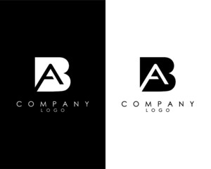 Initial Letters BA, AB abstract company Logo Design vector