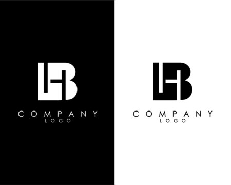 Initial Letters BH, HB abstract company Logo Design vector