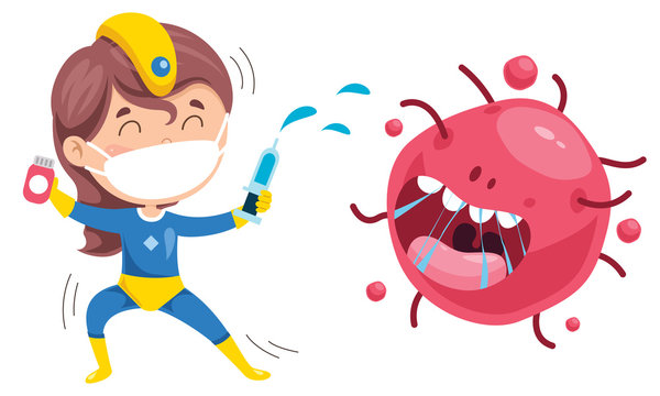 Health Care Concept With Cartoon Character