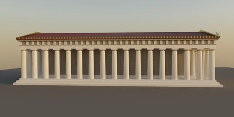 Parthenon, ancient greek temple, visualization, 3D illustration Fotomurales