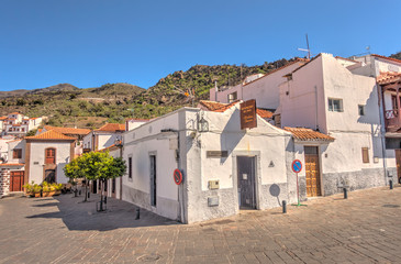 Fototapete - Village of Tejeda, Grand Canary Island, Spain