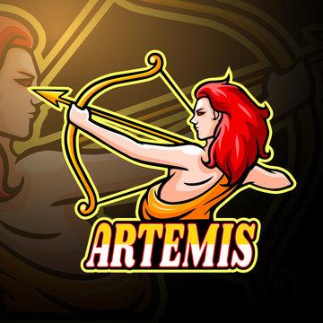 Artemis esport logo mascot design