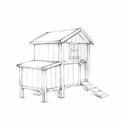 Einfaches stabiles Hühnerhaus