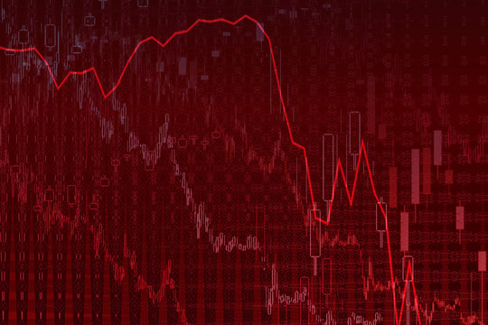 An abstract bear market stock chart background image.