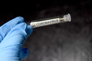 Coronavirus test tube world pandemia