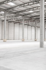 high new warehouse - industrial space - background