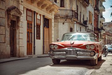 Keuken foto achterwand Havana Classic old car in Havana