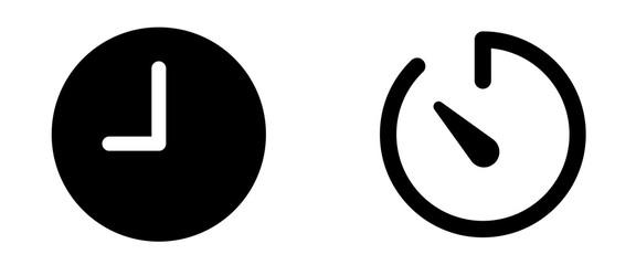 time timer icon . web icon set .vector illustration