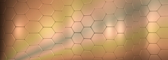 Fototapeta Szerokie tło geometryczne błyszczące kolory ziemi. Ilustracja 3D obraz
