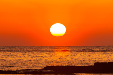 Foto op Canvas Zee zonsondergang 紀州白浜の夕陽