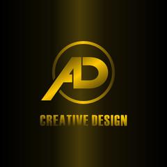 Letter AD logo design vector