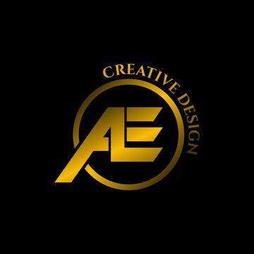 Letter AE logo design vector