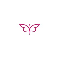 Colorful butterfly logo Ideas. Inspiration logo design. Template Vector Illustration. Isolated On White Background.