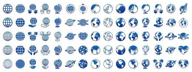 Fototapeta 地球 グローバル アイコン