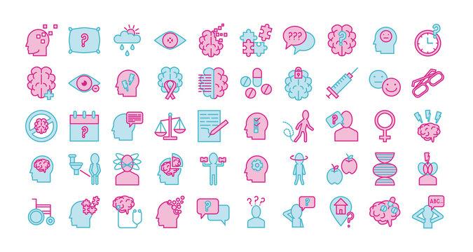 bundle of alzheimer set icons